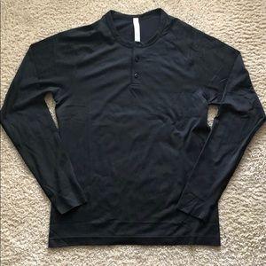 lululemon athletica Shirts - Lululemon Metal Vent Tech Henley Long Sleeve Shirt